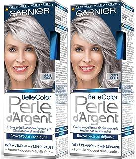 garnier belle color perle dargent crme djaunisseur clat cheveux gris gris - Shampoing Colorant Gris