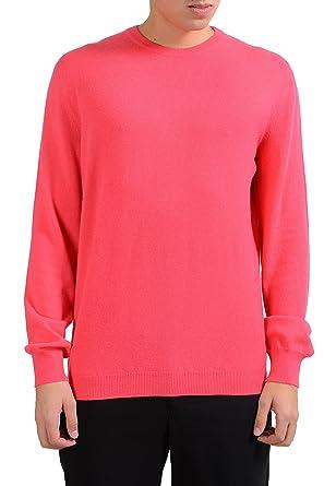 0899238d6b4 Malo mens pink crewneck cashmere pullover sweater us jpg 297x445 Mens  pullover sweater pink