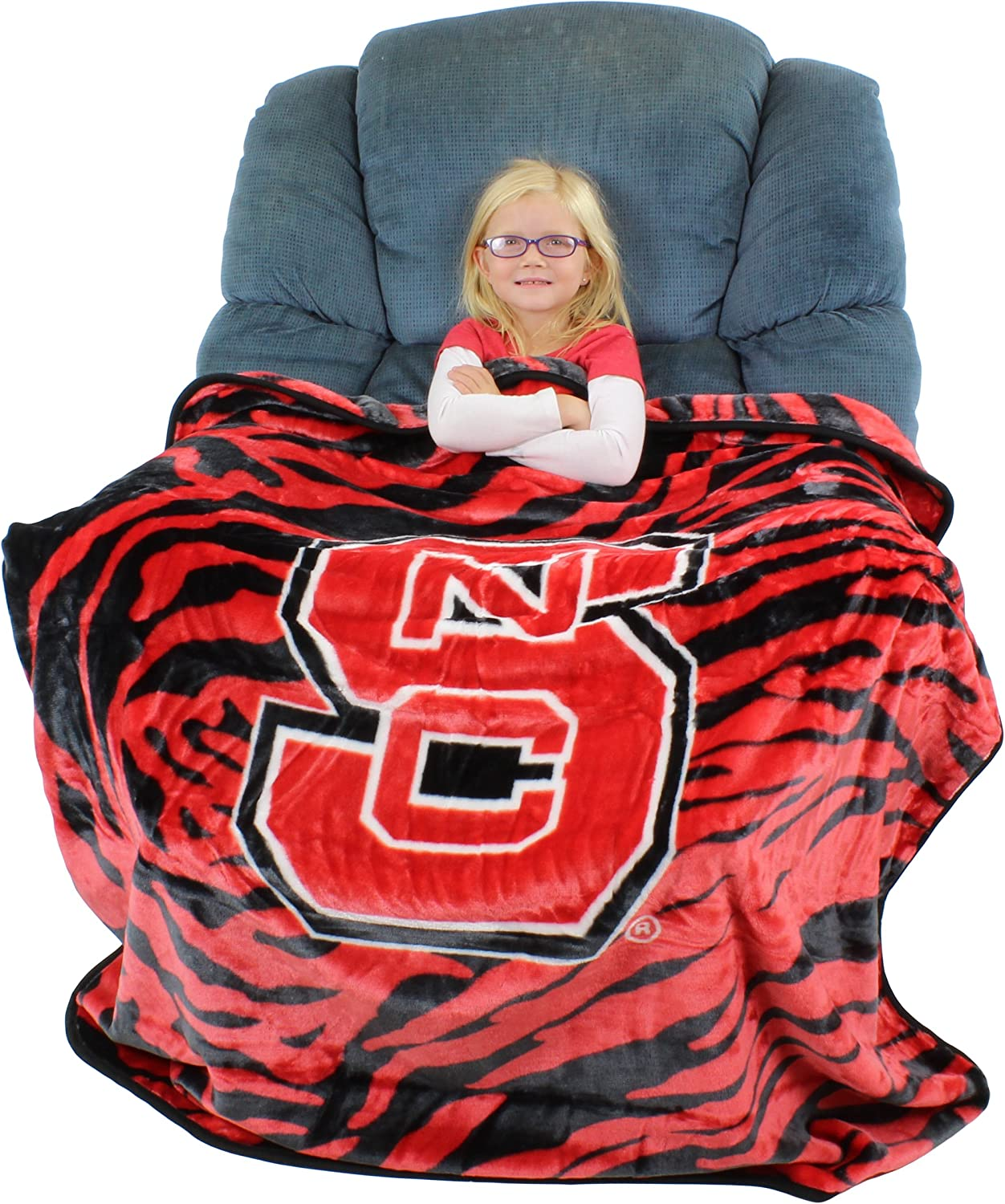 """College Covers Nc State Wolfpack Raschel Throw Blanket, 50"""" x 60"""""""
