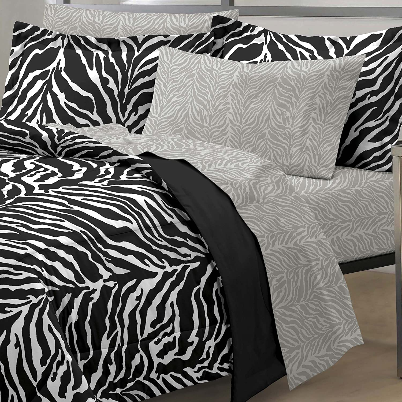 Amazon.com: My Room Zebra Ultra Soft Microfiber Comforter Sheet ...