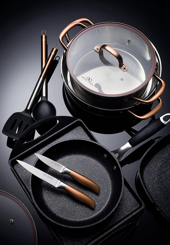 Compra Bergner Infinity Chef Set de Cuchillos y Barra magnética, Acero Inoxidable, Bronce, 20 cm en Amazon.es