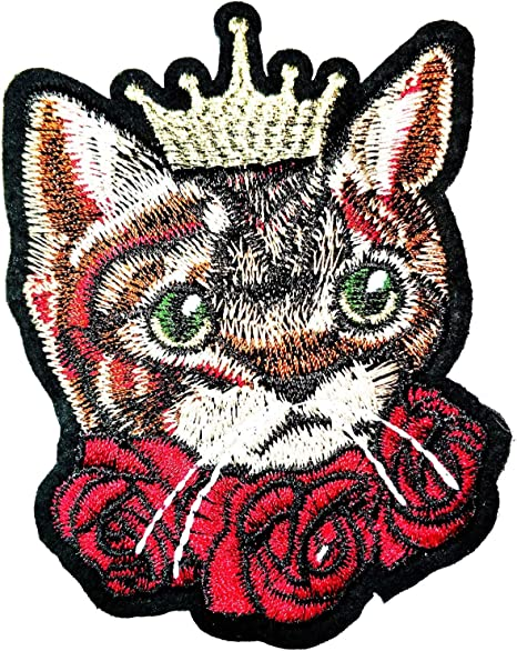 Cat with Hat Cat Series The Hat Embroidered Patch Set of 3