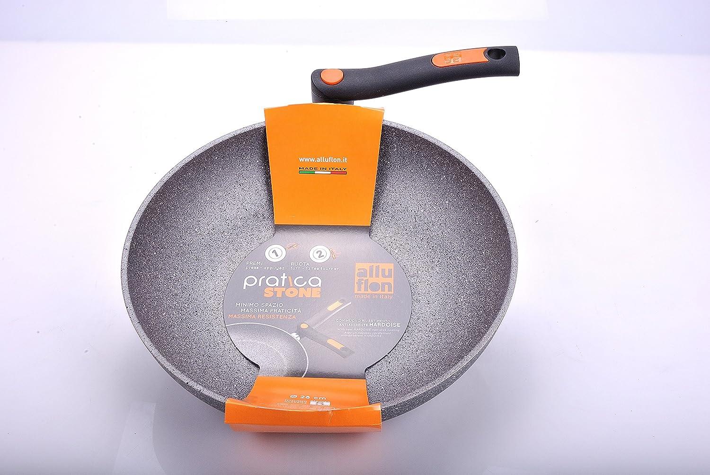 Alluflon Practical Stone Frying Pan Aluminium Grey 28 Cm grey