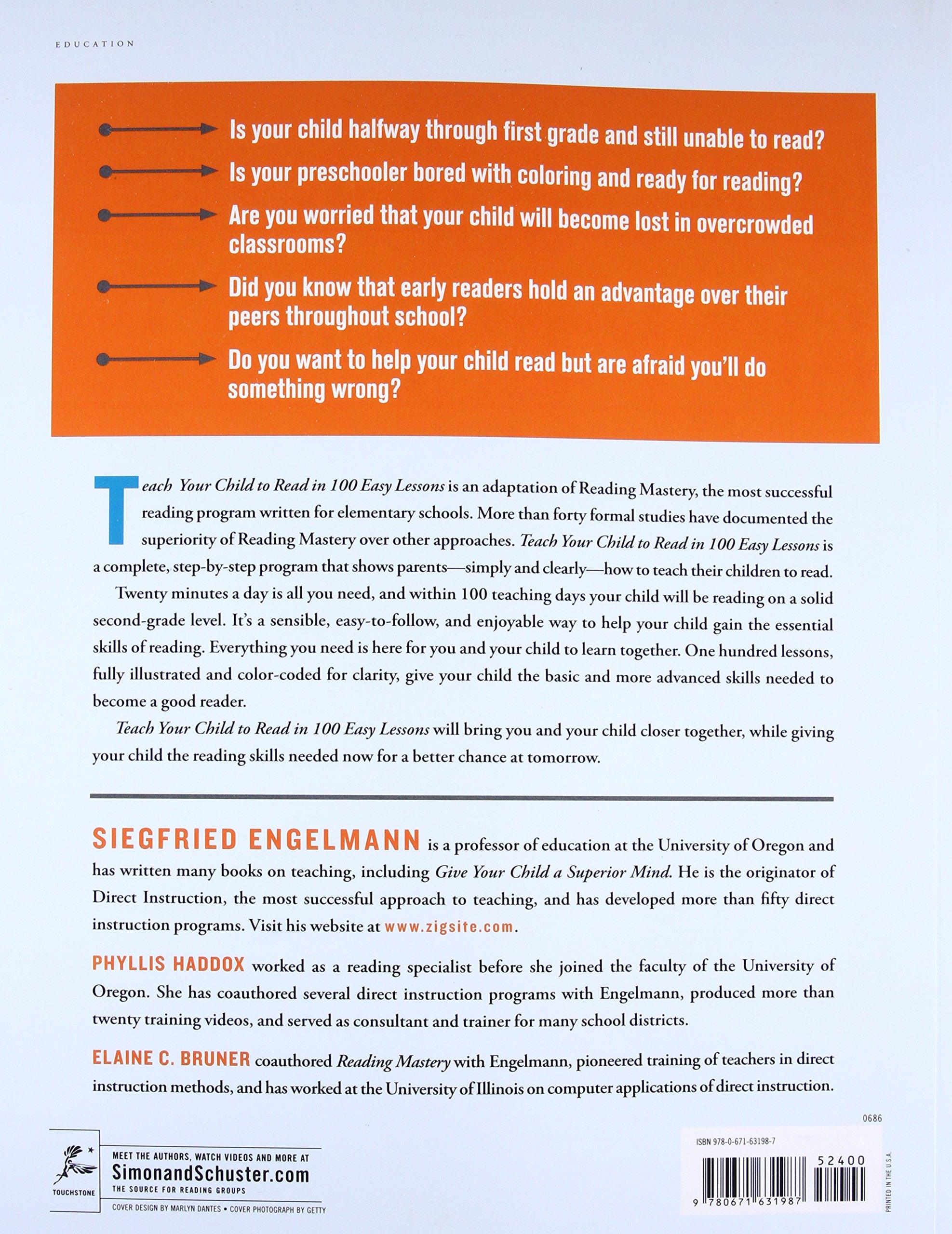 Amazon teach your child to read in 100 easy lessons amazon teach your child to read in 100 easy lessons 8601300365237 siegfried engelmann phyllis haddox elaine bruner books fandeluxe Images