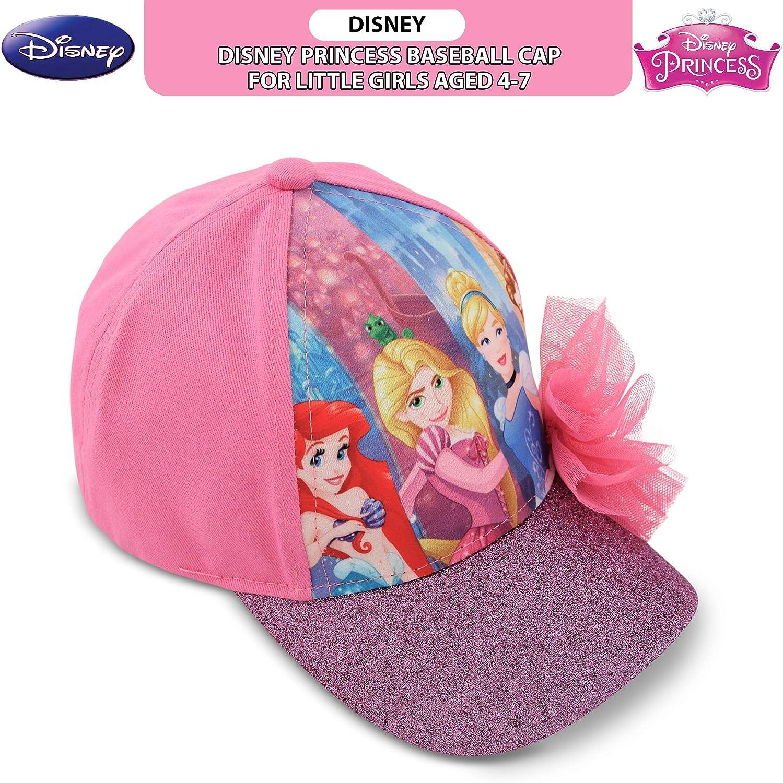 Girls Kids Official Licensed Disney Princess Cinderella /& Belle Winter Hat