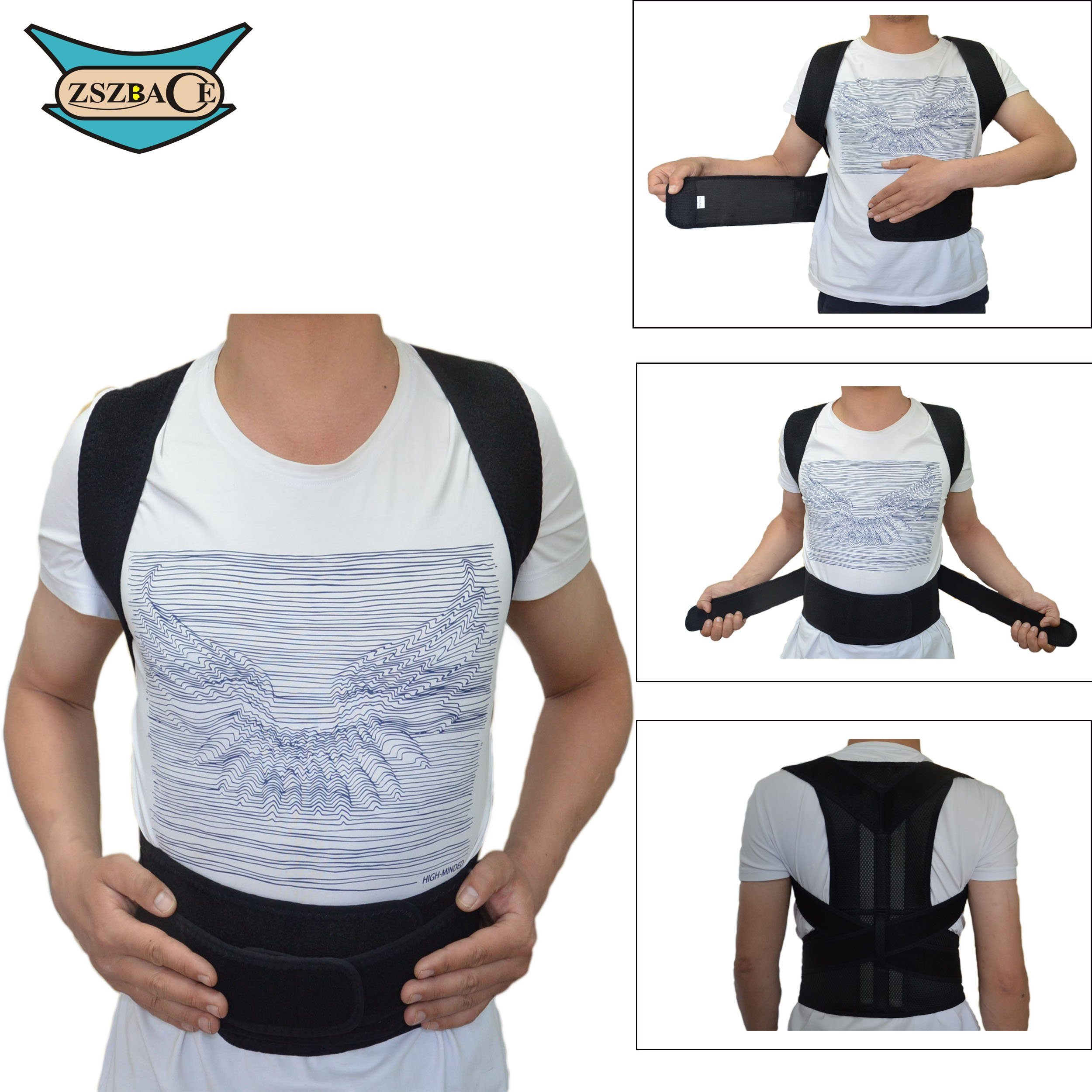 Back Brace Posture Corrector for Women & Men - Adjustable Straps Made of Soft Breathable fabric – Relieves your Back and Shoulders Pain (S)