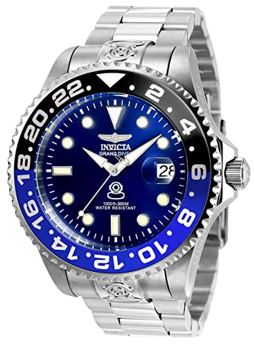 Invicta 21865 Pro Diver Men's Wrist Watch Stainless Steel Automatic Blue  Dial