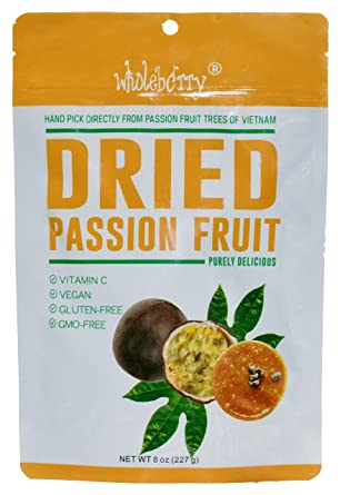 Naturally Delicious Dried Passion Fruit Maracuja 8 ozs,No Chemical,No color,No Preservatives,made in Vietnam from mature fruitfrom fully (8)