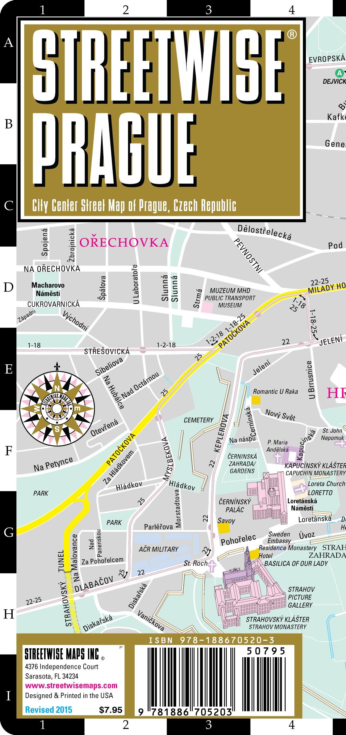 Streetwise Prague Map Laminated City Center Street Map Of Prague - Laminated folding us map