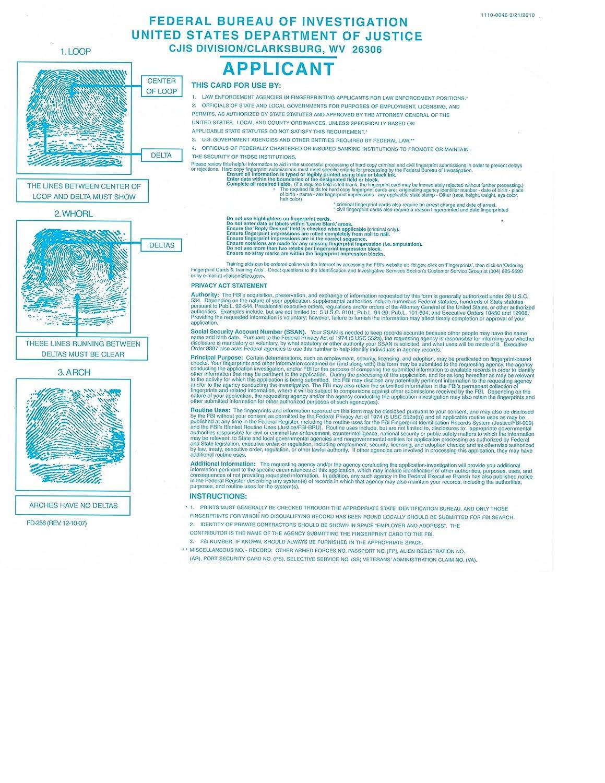Amazon fbi fingerprint cards form fd 258 3 pack office amazon fbi fingerprint cards form fd 258 3 pack office products falaconquin