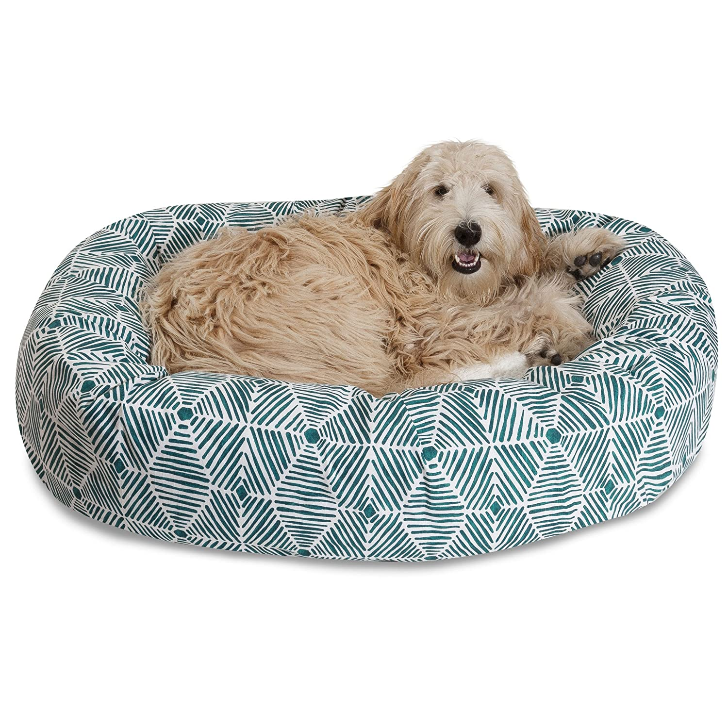 Emerald Green 52-Inch Emerald Green 52-Inch Majestic Pet 52  Charlie Emerald Sherpa Bagel Bed