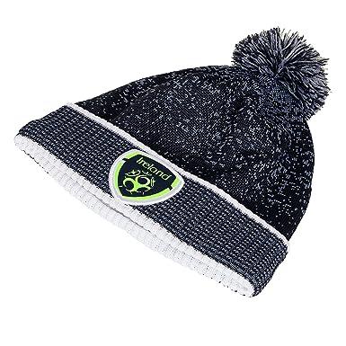 Carrolls Irish Gifts FAI Black Woolie Bobble Hat  Amazon.co.uk  Clothing f1408522c00