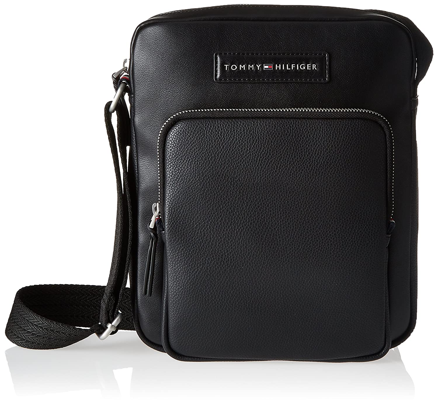 Tommy Hilfiger - Corporate Mix Reporter, Bolso Hombre, Negro (Black), 6x28x23 cm (B x H T) AM0AM03441