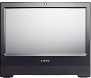 Shuttle XPC AIO X50V6 BLACK Intel Celeron 3865U Kabylake All-In-One Barebone PC, Fanless, IP54 Certified, VESA compatible