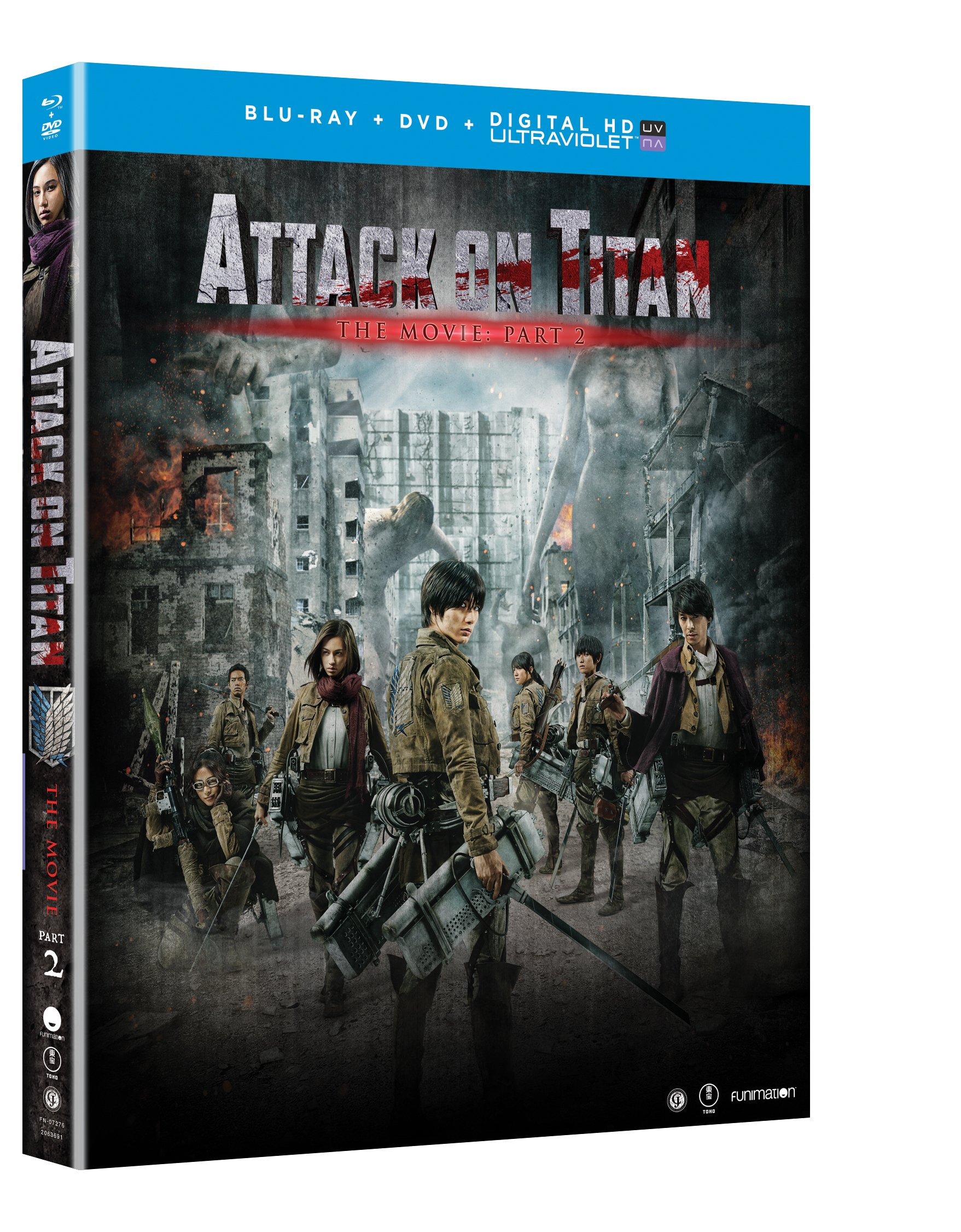 Blu-ray : Attack On Titan The Movie: Part 2 (With DVD, Ultraviolet Digital Copy, 2 Disc)