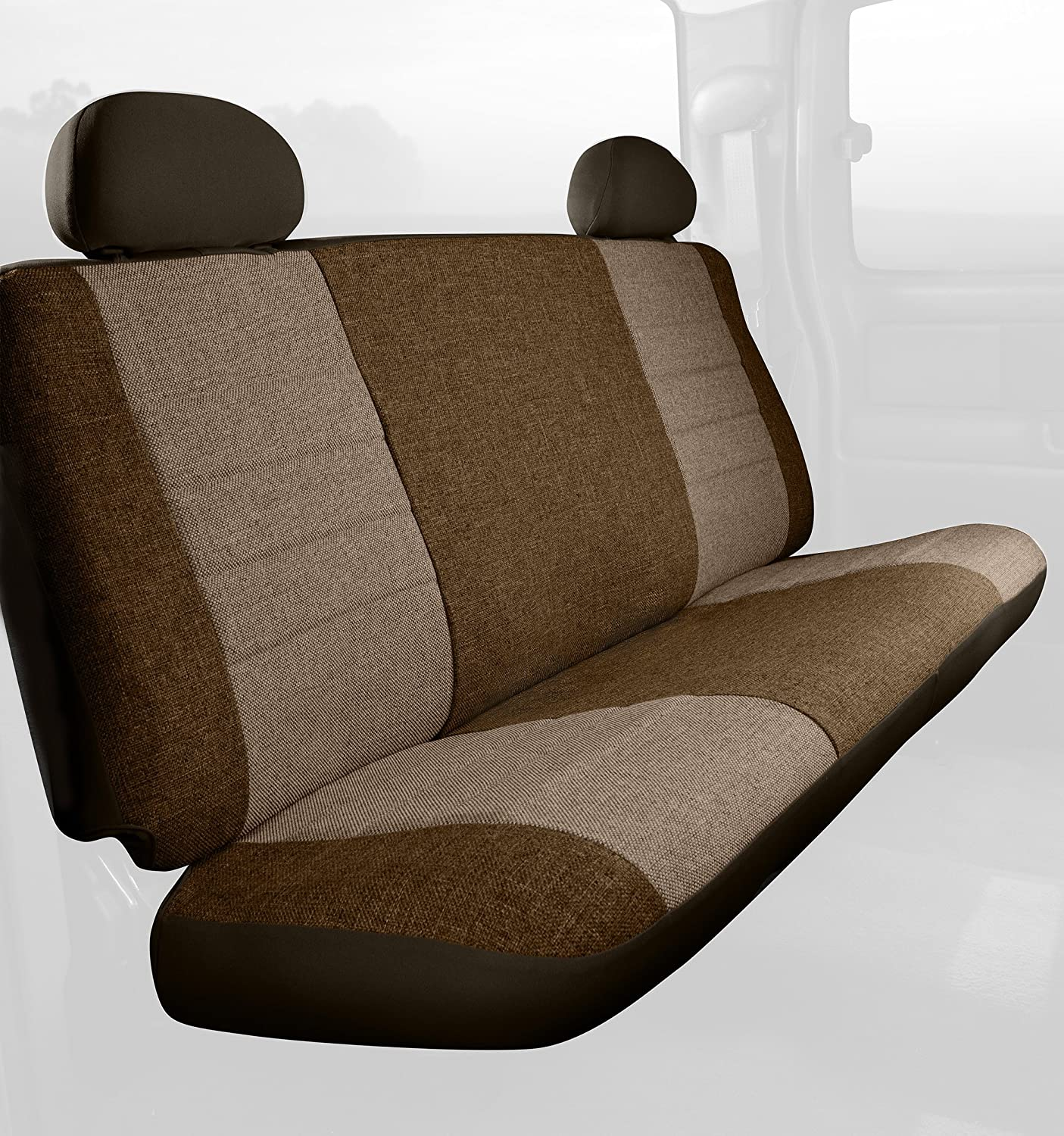 Fia OE32-10 TAUPE Custom Fit Rear Seat Cover Bench Seat Tweed, Taupe
