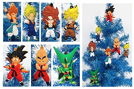 dragon ball z holiday christmas ornament set unique shatterproof plastic design by holiday ornaments