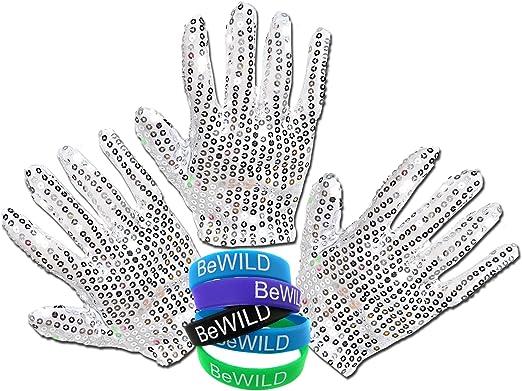 Silver Right Hand Sequin Glove