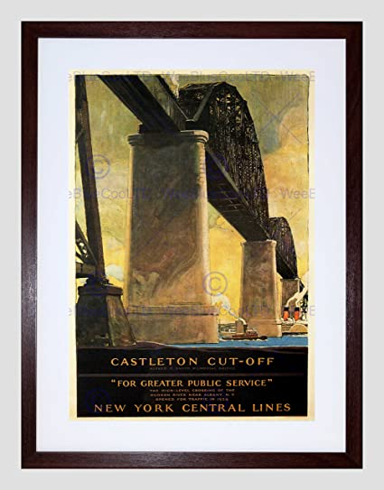 Amazon com: PUBLIC BRIDGE NEW YORK HUDSON CASTLETON CUT-OFF VINTAGE
