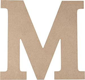 Juvale Unfinished Wooden Letters, Greek Letter M for Mu (12.25 x 11.6 in.)