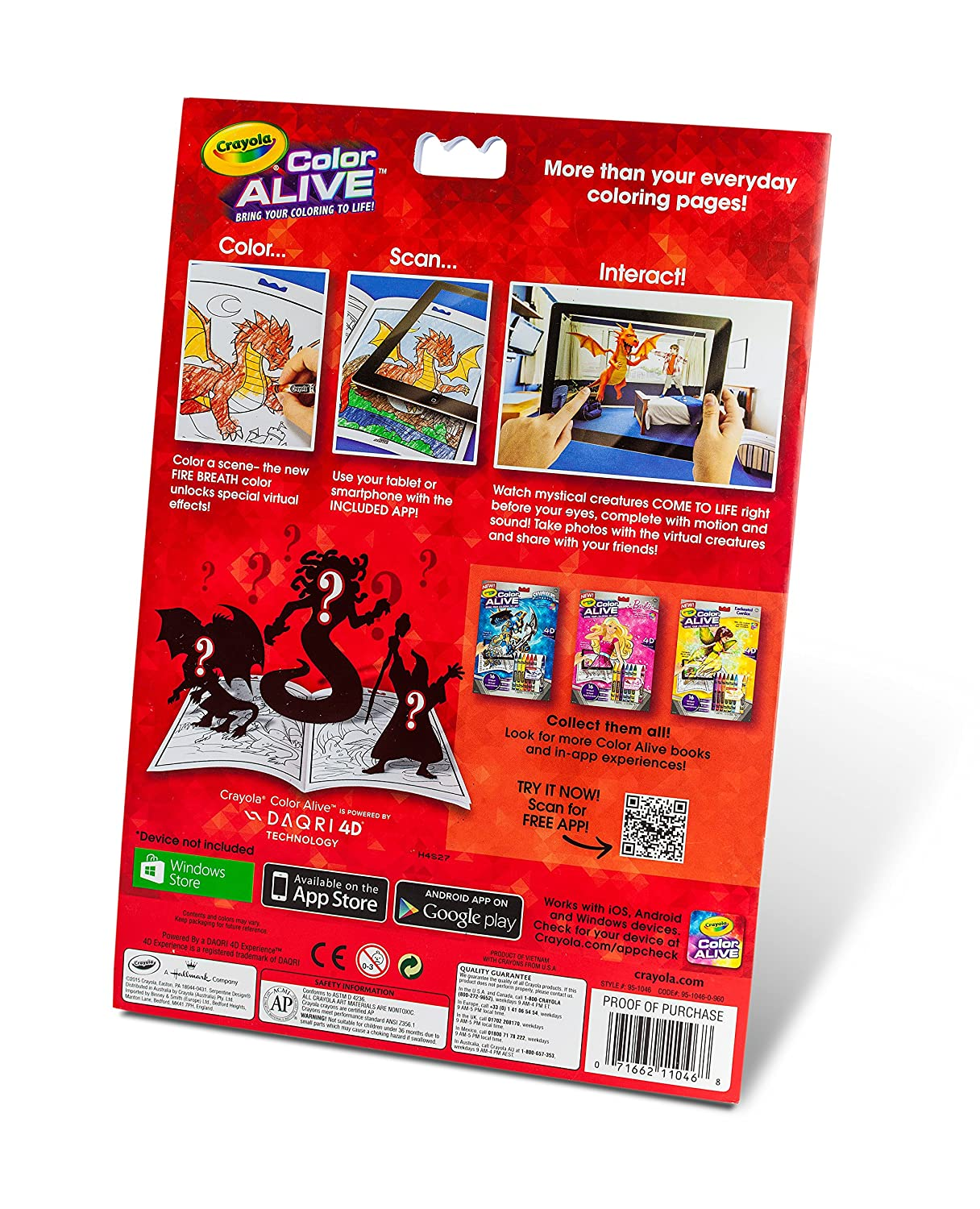 Crayola Color Alive Action Coloring Pages-Mythical Creatures 95-1046