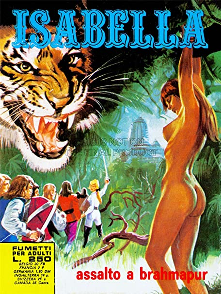 Comic Book Isabella Adult Assault Brahmapur Tiger India Jungle Italy