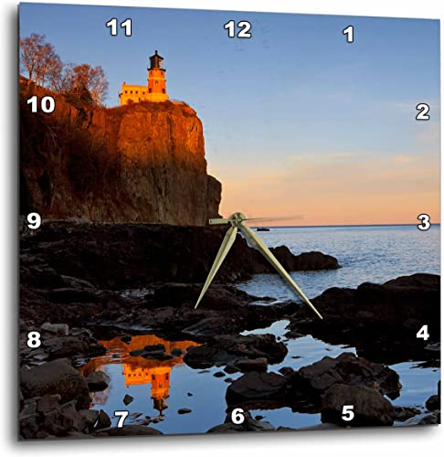 3dRose Split Rock Lighthouse, Two Harbors, Minnesota-US24 CHA0071-Chuck Haney-Wall Clock, 13-inch DPP_91374_2