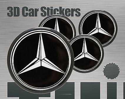Adhesivos 3D 4 pzs Imitaci/ón Todo tama/ño Tapa central Tapas de rueda 53 mm