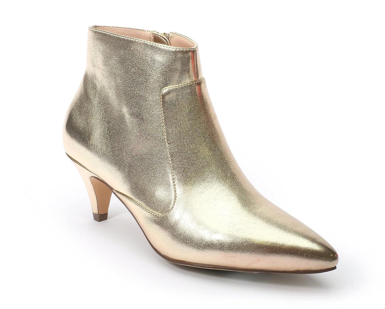 Jane and the Shoe Women's Kizzy Kitten Heel Ankle Boot B07DG1HLVD 8.5 M US|Gold