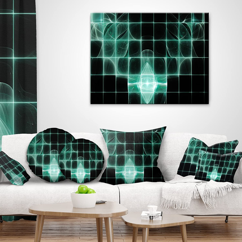 Sofa Designart Cu16059 26 26 Blue Bat On Rader Screen Abstract Throw Cushion Pillow Cover For