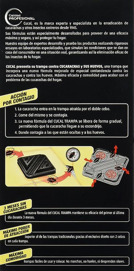 Cucal Trampa doble cebo contra Cucarachas y sus huevos - 6 trampas: Amazon.es: Amazon Pantry