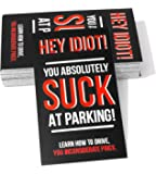 You Suck at Parking Cards, Pack of 50, Color Black, Prank Cards, Jokes