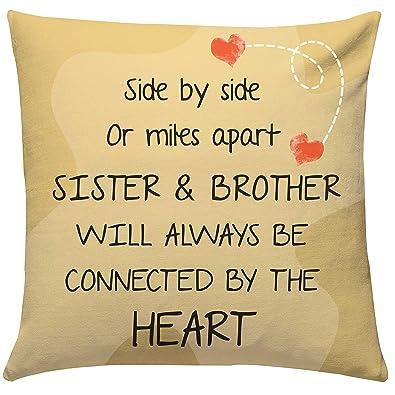 Giftsbymeeta Bro Sis Love Cushion Cushion With Filler 12x12 Inches