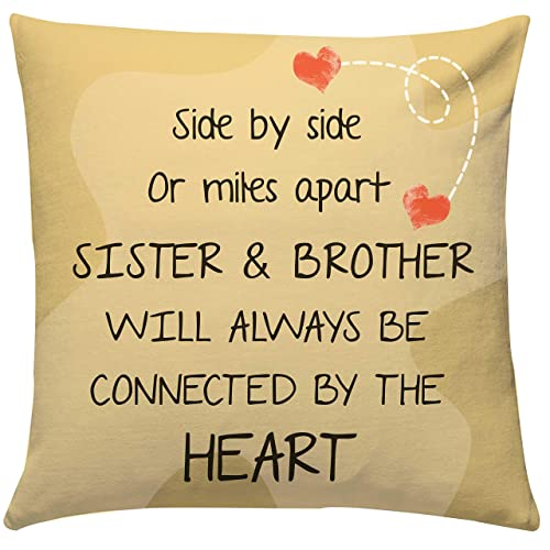 Giftsbymeeta Bro Sis Love Cushion Cushion With Filler 12x12 Inches