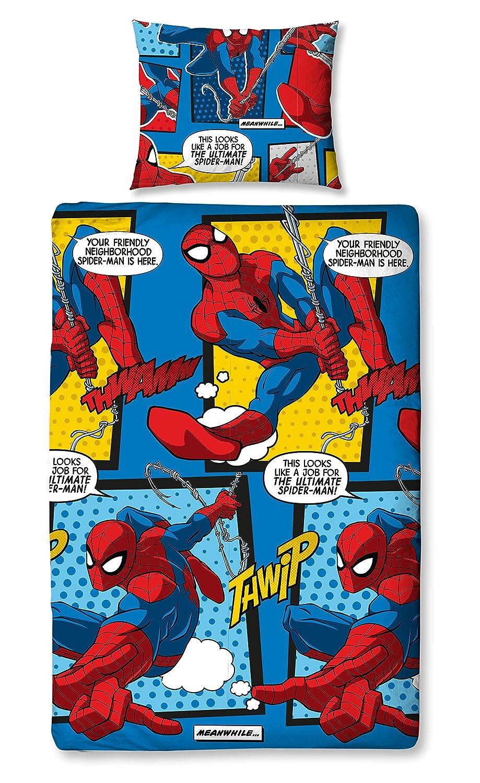 Ultimate Spider-Man Single Duvet Cover Set DUSWBHDS002UK1