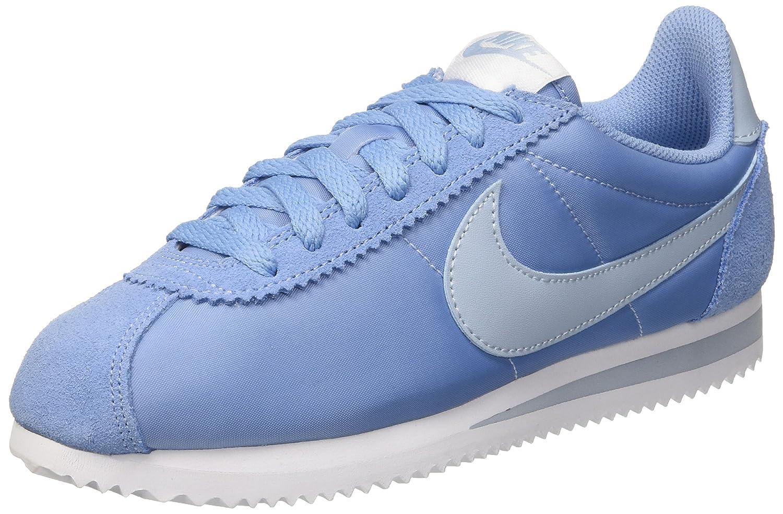 Nike Classic Cortez Nylon, Zapatillas Para Mujer 38.5 EU|Azul (December Sky/Light Armory Blue-white)