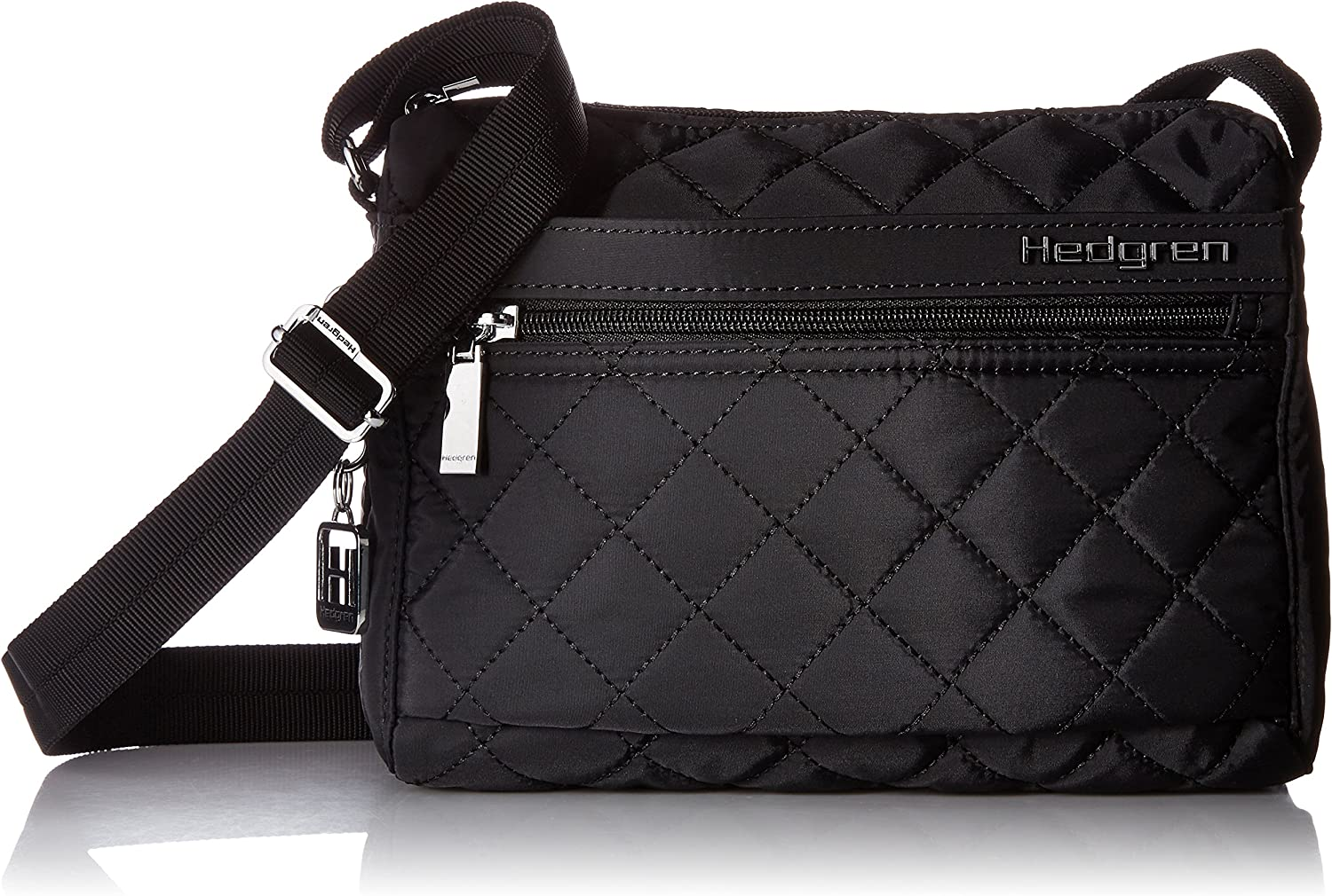 Hedgren Carina Crossbody Shoulder Bag, Purse with Adjustable Strap and 5 Pockets, 9 x 3.5 x 7 Inches, Womens, Black