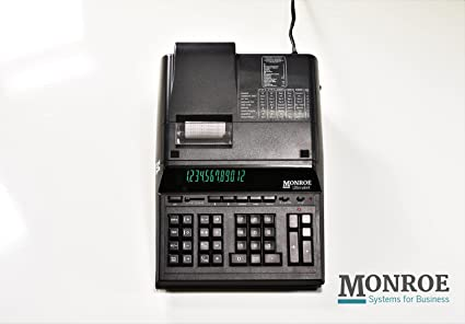(1) Monroe 12-Digit Print/Display UltimateX, A Top-Of-The-Line Heavy-Duty  Calculator With Reprint & Editing Capabilities in Black
