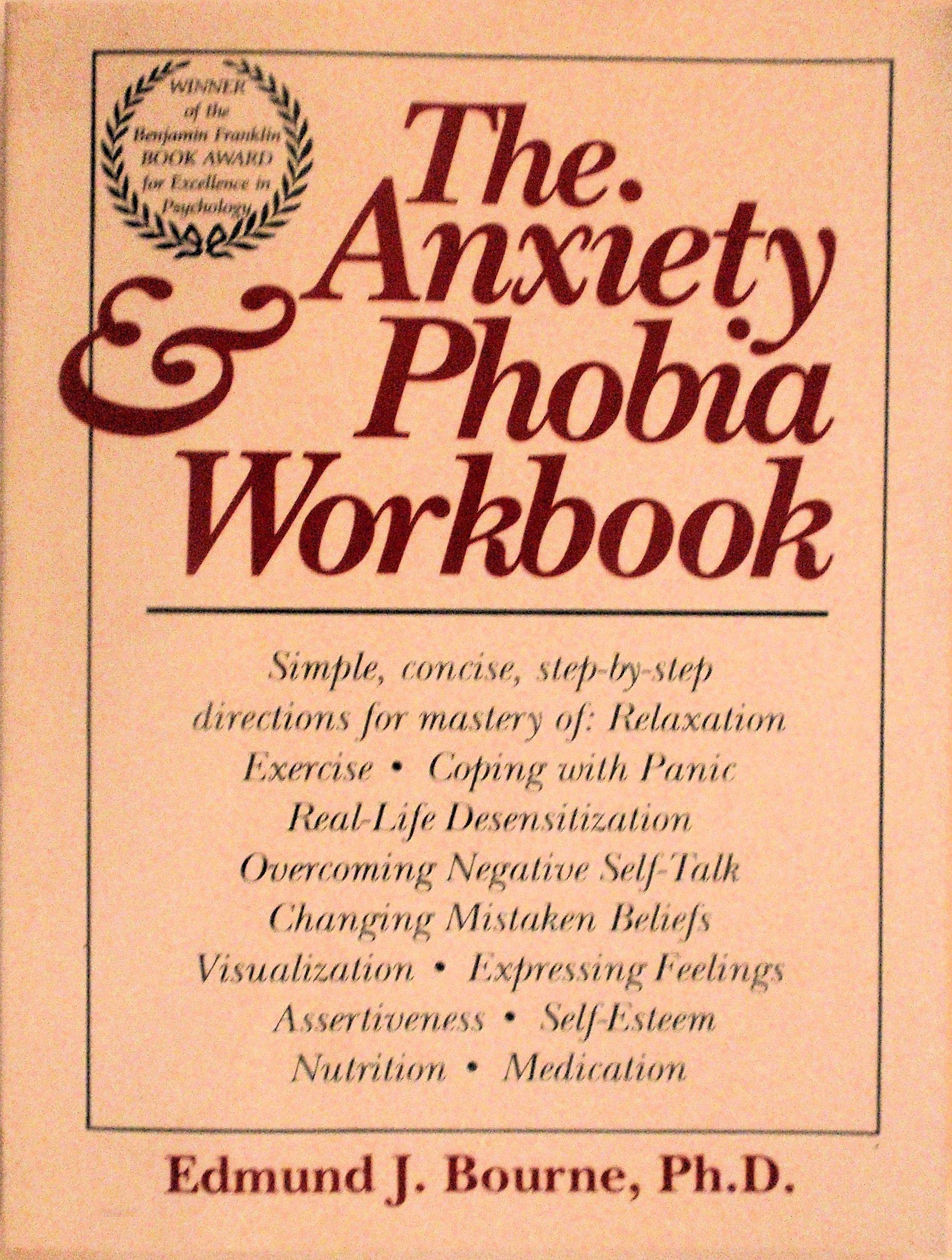 Anxiety Phobia Workbook Edmund Bourne product image
