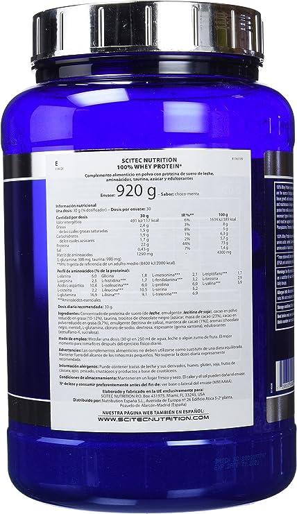 Scitec Nutrition Whey Protein Proteína Chocolate, Menta - 920 g