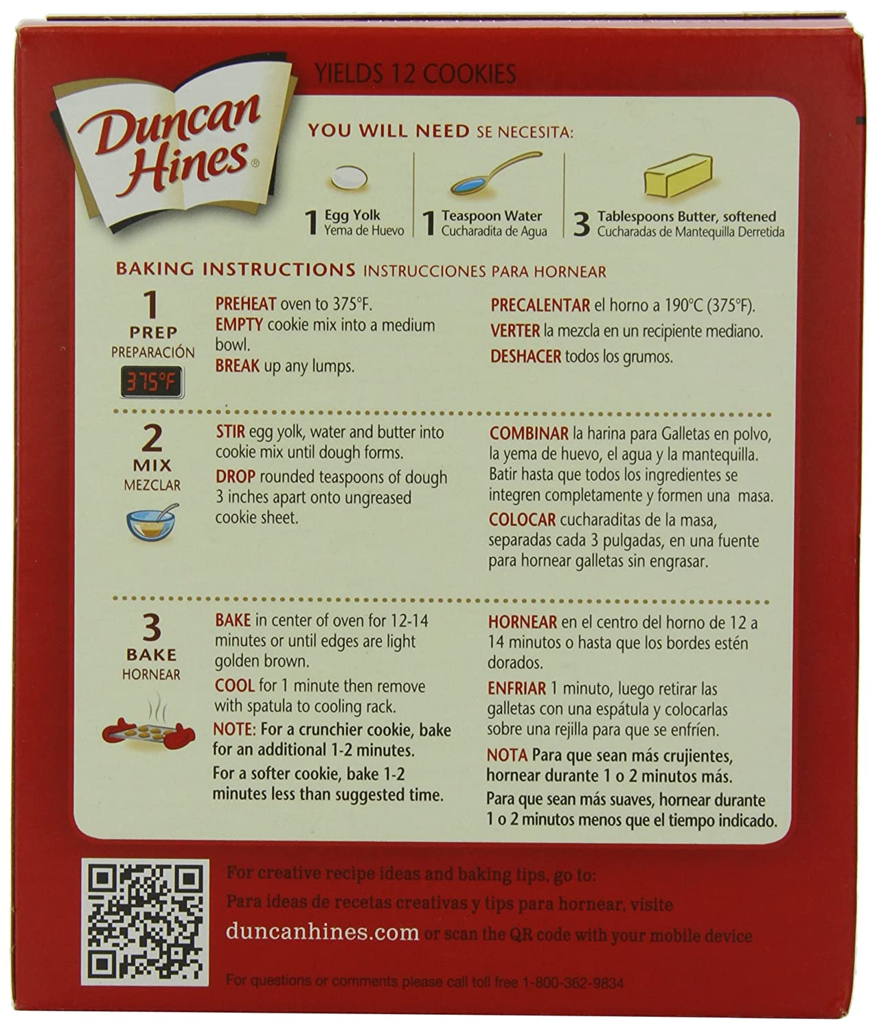 Amazon.com : Duncan Hines Snack Cookie Mix, Chocolate Chip, 6.7-Ounce (Pack of 12) : Grocery & Gourmet Food