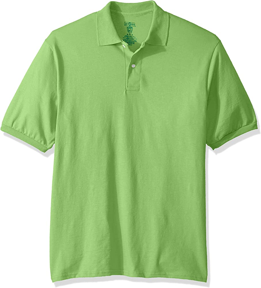 Jerzees Mens Spot Shield Short Sleeve Polo Sport Shirt, Kiwi, 4X ...