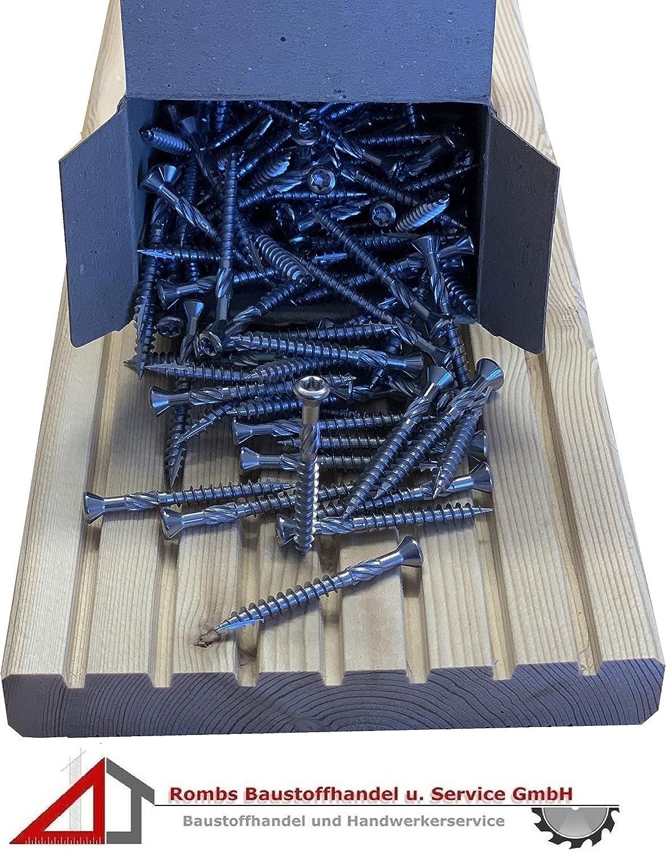 100St/ück Edelstahl C1, 5 x 40 1VPE Terrassenschrauben ab 9,95/€//VPE mit CUT-Spitze Holzschraube Edelstahl C1 Schrauben f/ür Ihre Holzterrasse
