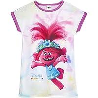 TROLLS Pijama Niña, Camison Niña con Diseño de Troll Poppy, Ropa para Niñas Pelicula 2 Gira Mundial, Vestidos Niña…