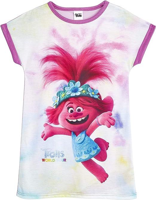 TROLLS Pijama Niña, Camison Niña con Diseño de Troll Poppy, Ropa ...