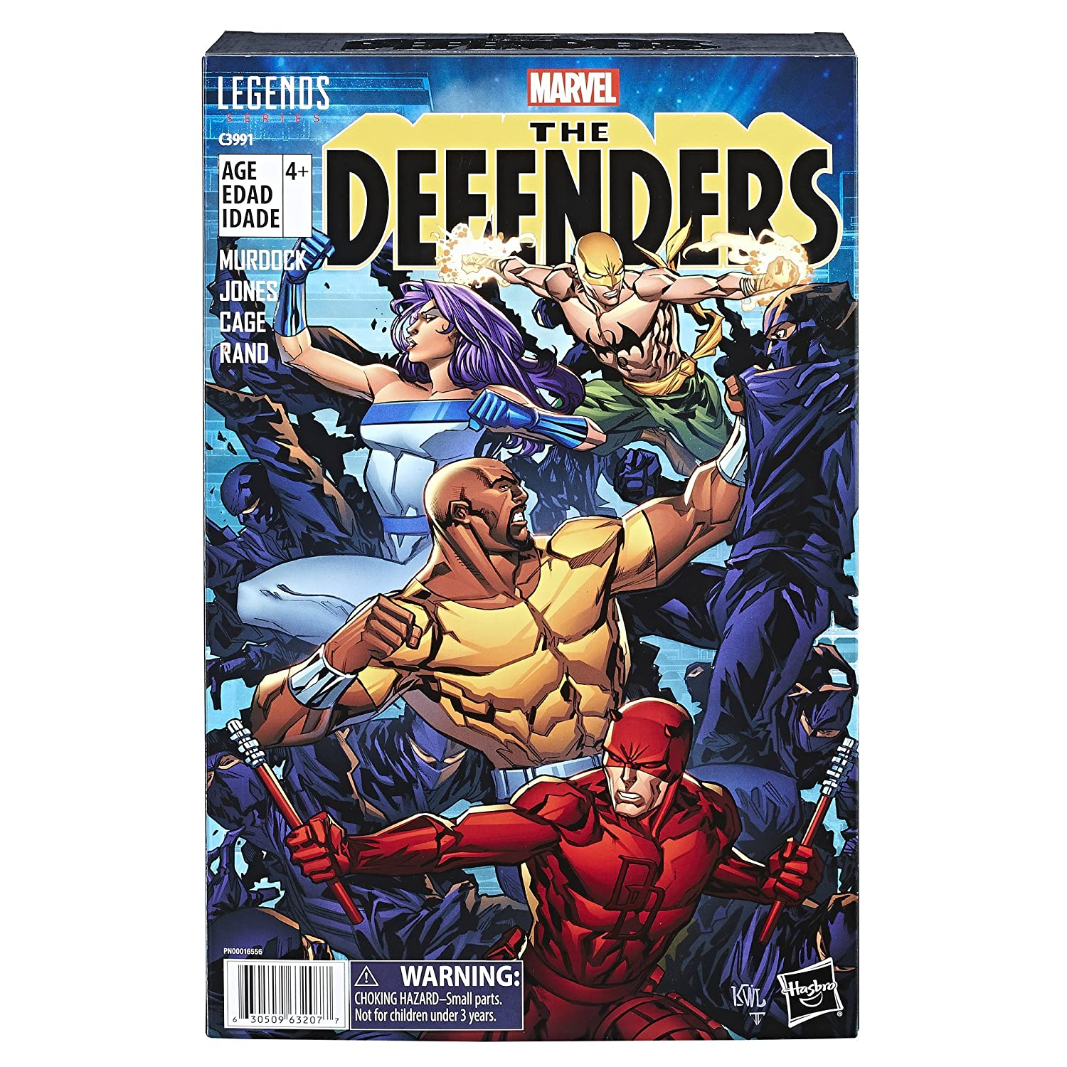 Import C3991AT7 Exclusive Hasbro Marvel Legends Series The Defenders Figure 4-pack