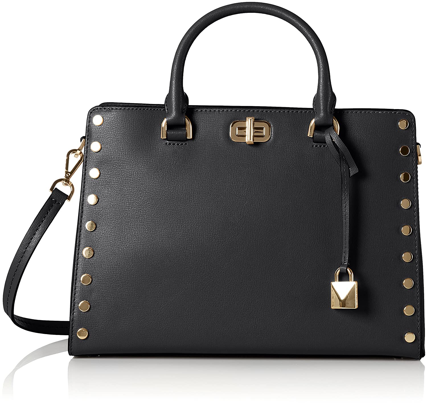 Michael Kors 30T7GYFS3L Womens Sylvie Satchel Black (Black)  Amazon.co.uk   Shoes   Bags 2758c89187c
