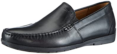Geox U Leitan B Mocassini Uomo Nero (black C9999) 43 EU Scarpe
