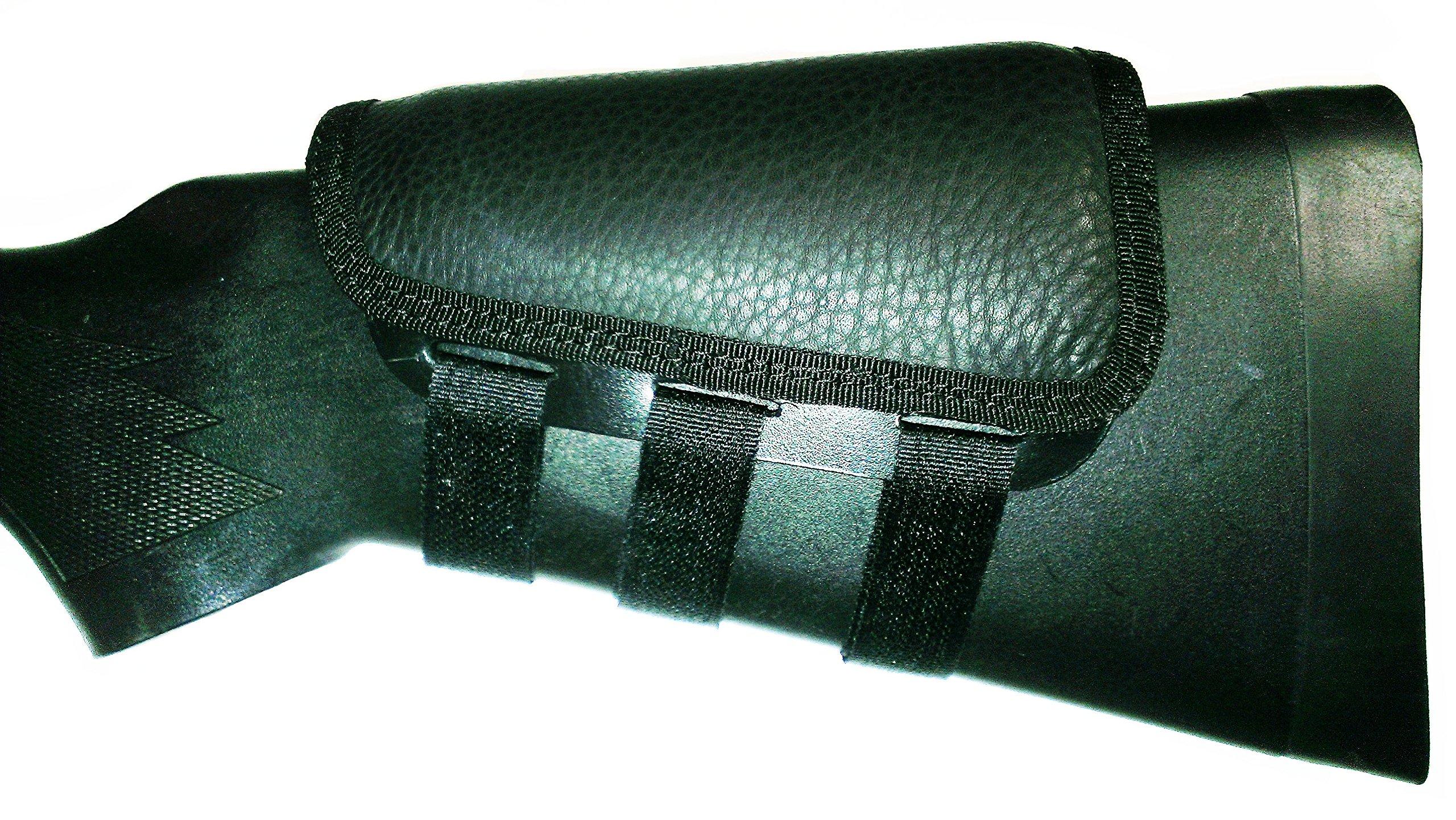 Rifle Cheek Pad / Cheek Riser / CheekRest by ITC Marksmanship / Black Leather by ITC