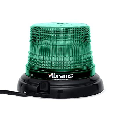 """Abrams SAE Class-1 StarEye 4"""" Inch Dome 12 LED Magnet/Permanent Mount Security Command Station Vehicle Beacon Light - Green: Health & Personal Care"""